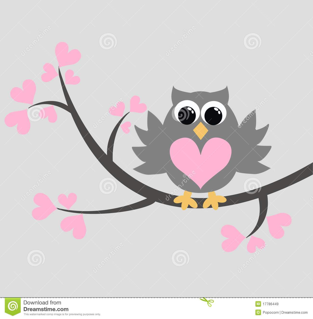 Cute owl love drawing - photo#27